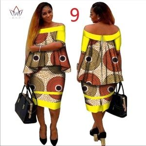 Dresses & Skirts - African Dashiki Women Clothing. 2 Pieces